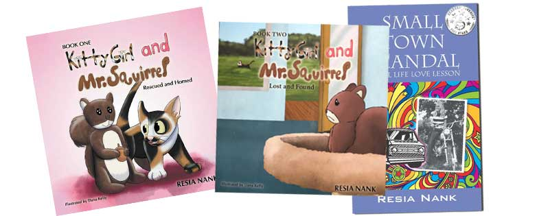 Kitty Girl and Mr. Squirrel Children's Book Series and Small Town Scandal written by Reese Nank